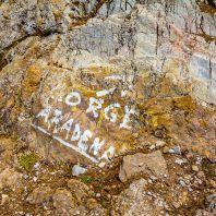 Указатель на вход в Араденское ущелье