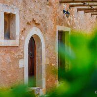 Внутренний двор монастыря Аркадия, Крит, Греция