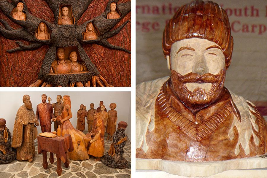 Музей деревянной скульптуры в Аксос: Генеалогическое древо, Свадьба, Умерший отец Георгиоса, Янис Кутантос - Георгиос Кутантос