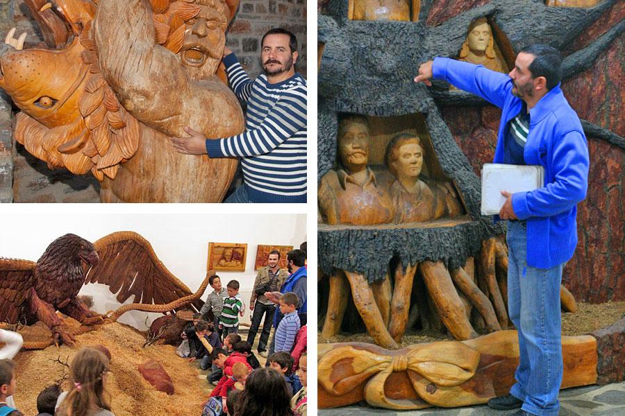 Музей деревянной скульптуры в Аксос: Георгиос Кутантос