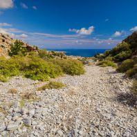 Выход из ущелья Имброс, остров Крит, Греция