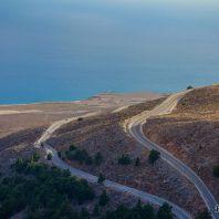Серпантин по пути в ущелье Имброс, Крите, Греция
