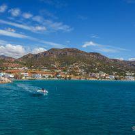 Порт и гавань в Макри Гиалос, Крит, Греция