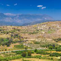Панорама из Фестского дворца, Крит, Греция