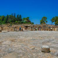 Внутренний двор дворца Фестос, Крит, Греция