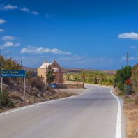 По дороге к монастырю Топлу, Крит, Греция