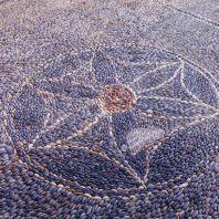 Мозаика во дворе монастыря Топлу, Крит, Греция