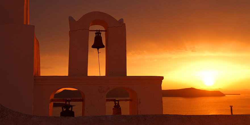 Остров Санторини: потрясающие закаты