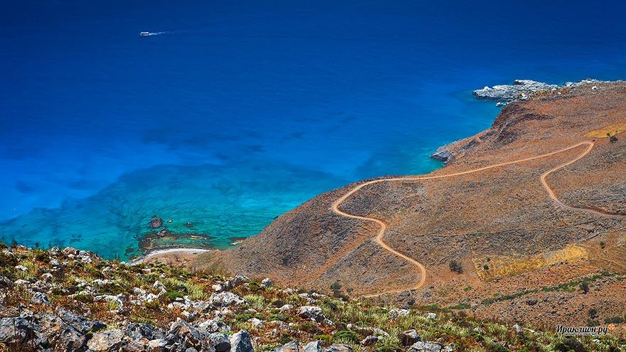 По дороге к ущелью Арадена, Крит, Греция