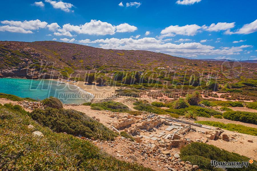 Южны пляж Итанос, Крит, Греция