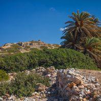 Руины древнего города Итанос, самого восточного поселения на Крите, Греция