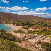 Пляж неподалёку от города Итанос, Крит, Греция