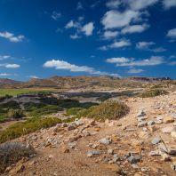 Развалины античного города Итанос, одного из важнейших городов на востоке острова Крит, Греция