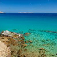 Морское побережье в районе пляжа Итанос, Крит, Греция