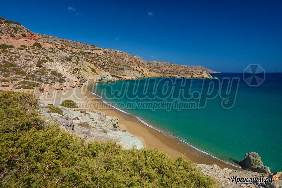 Северный пляж Итанос, Крит, Греция