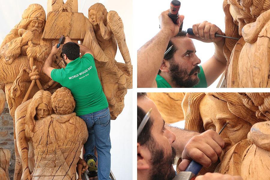 Музей деревянной скульптуры в Аксос: Снятие с креста - Георгиос Кутантос