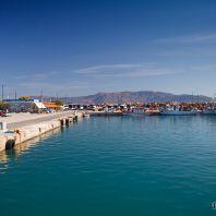 Порт в городе Киссамос, Крит
