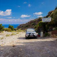 Такси на выходе из ущелья Имброс, остров Крит, Греция