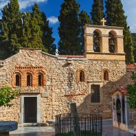 Женский монастырь Кера Кардиотисса, один из известнейших монастырей на острове Крит, Греция