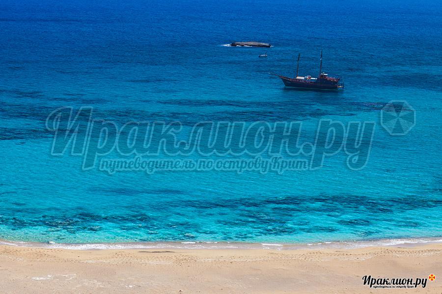 Пустынные пляжи необитаемого острова Куфониси, Крит, Греция