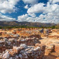 Минойский дворец в Малии, Крит, Греция