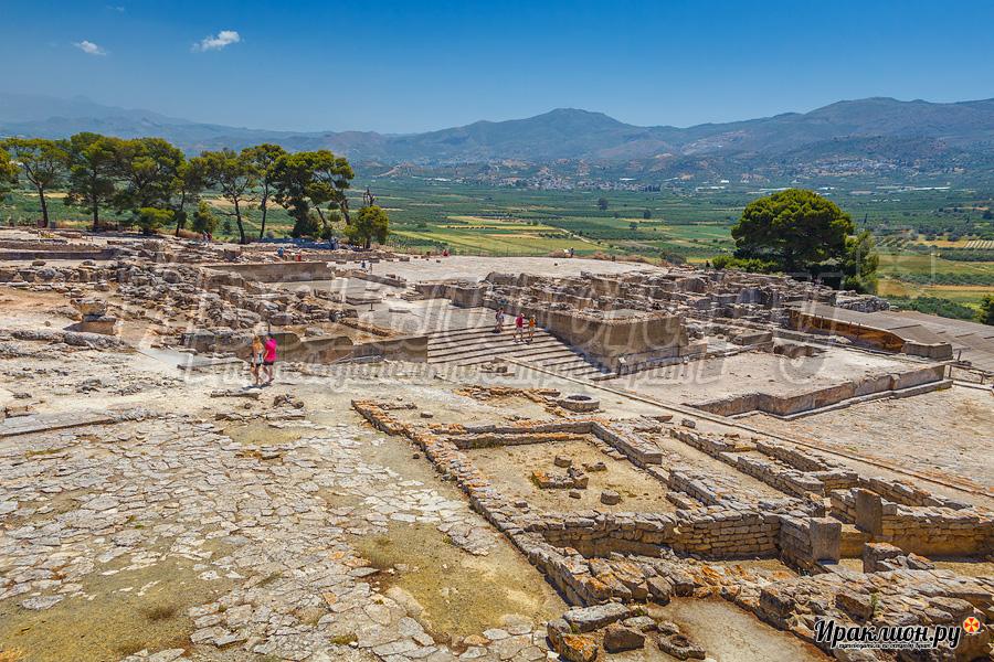 Дворец Феста: вид на территорию комплекса, Крит, Греция