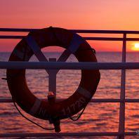 Закат с палубы Megajet