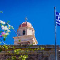 Звонарная башня монастыря Топлу, Крит, Греция