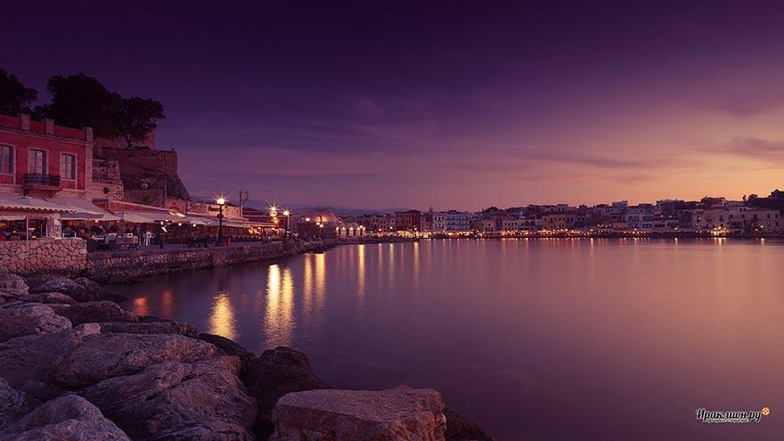 Гавань города Ханья, Крит, Греция
