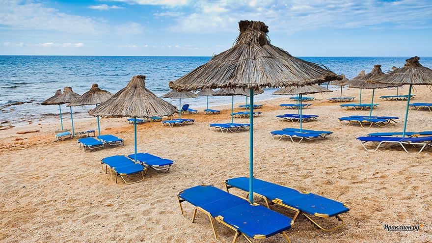Северное побережье Крита, пляж в районе Херсониссоса, Крит, Греция
