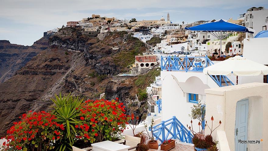 Город Фира: столица острова Санторини, Греция