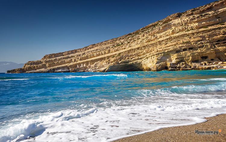 Пляж и пещеры Матала, Крит, Греция